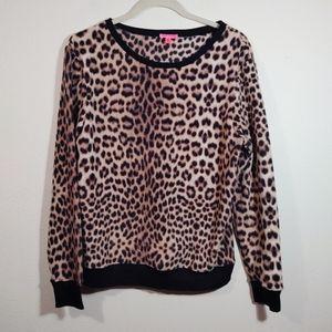 Betsey Johnson Cheetah Print Sweatshirt M